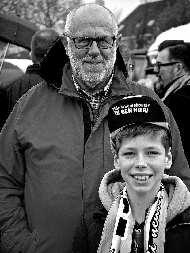 Young and old alike come to watch the professionals race at the Tour of Flanders